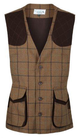 Highland 100% Wool Tweed Shooting Gilet Waistcoat Traditional Tailored Quality